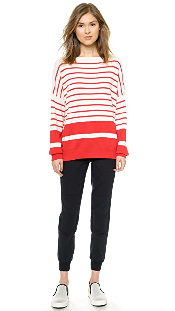 Vince Banded Rib Cashmere Sweater