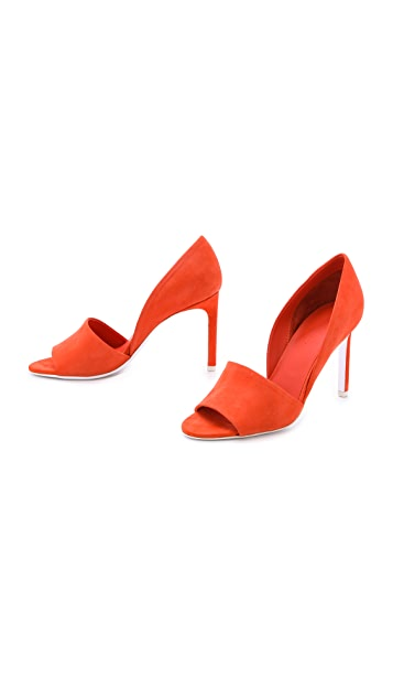 Vince Saffron Open Toe d'Orsay Pumps