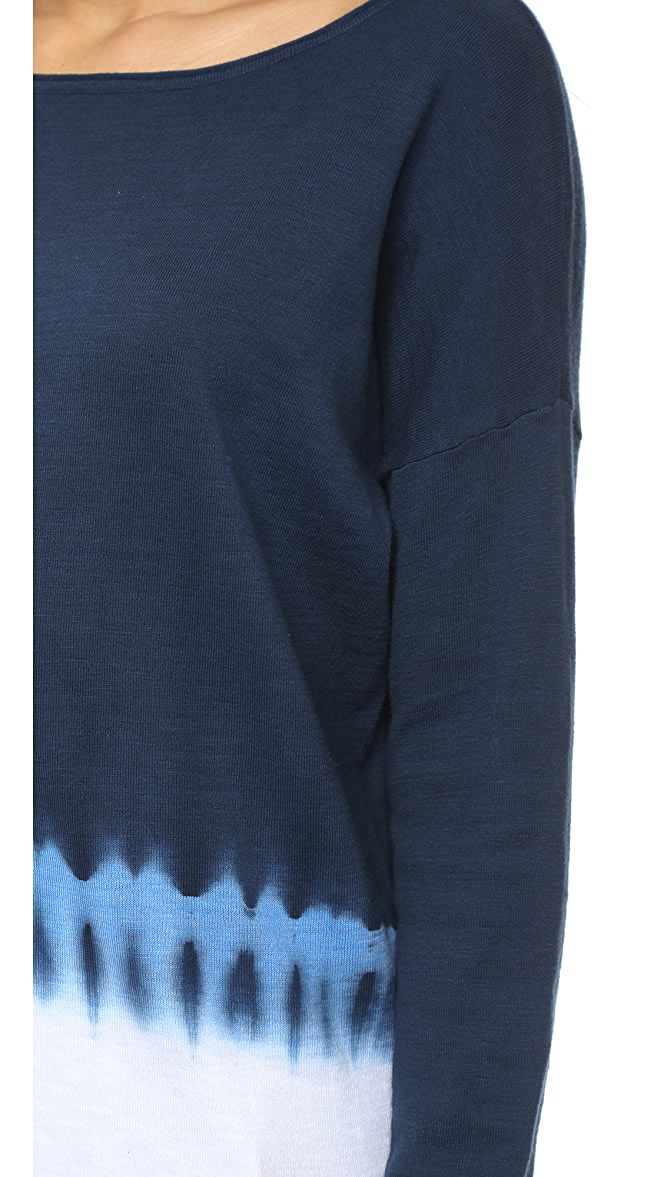 Vince  Tie-Sleeve Wool Sweater M Blue