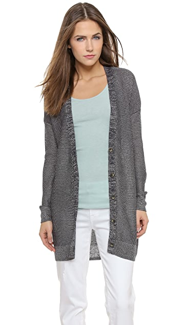 Vince Metallic Cardigan