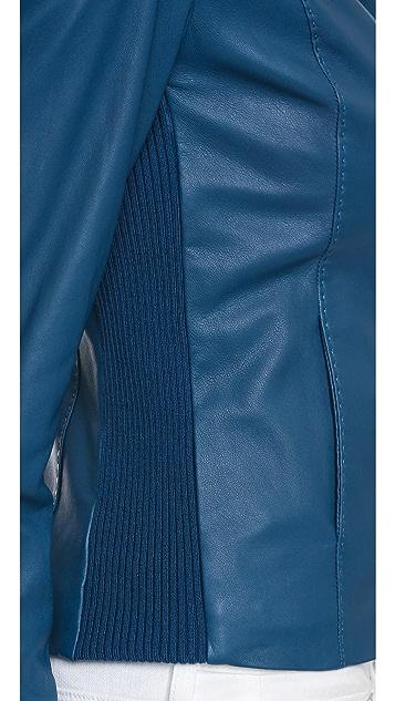 Vince Кожаная куртка Scuba в винтажном стиле
