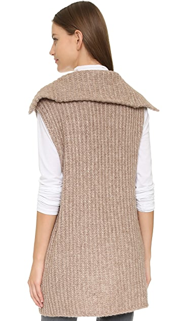 Vince Funnel Neck Zip Vest