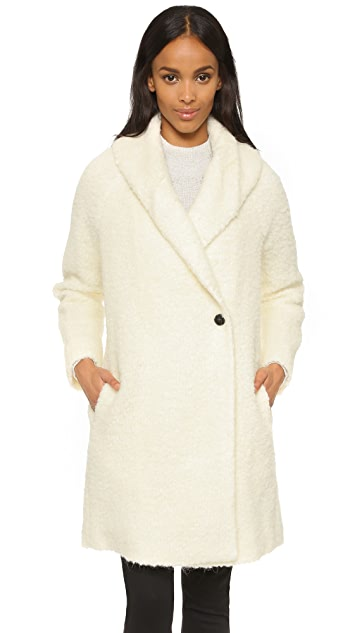 Vince Fuzzy Knit Coat
