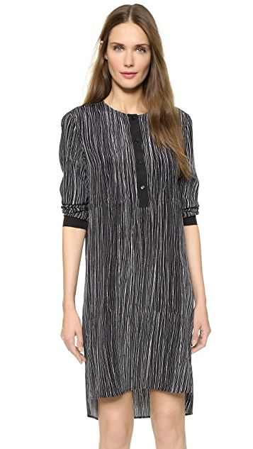 Vince Wavy Stripe Print Dress
