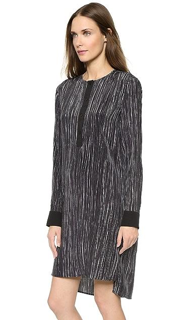 Vince Wavy Stripe Print Dress