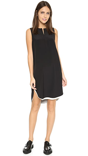 Vince Sleeveless Double Layer Dress