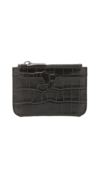 Vince Croc Embossed Coin Pouch