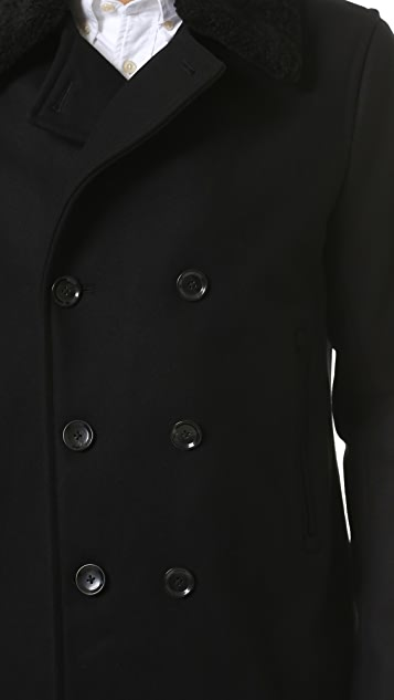 Vince Mouton Collar Pea Coat