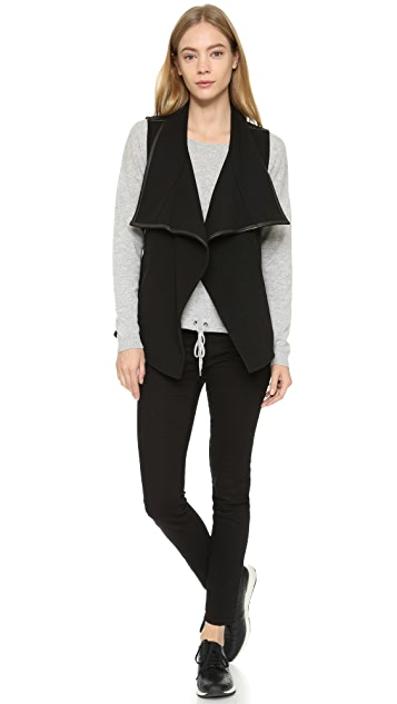 Vince Leather Trim Vest
