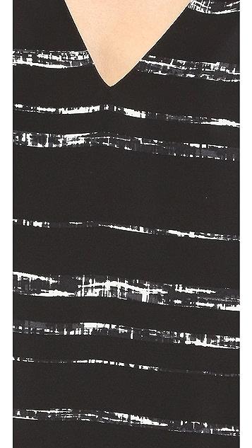 Vince Shadow Stripe Print Shift