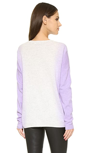 Vince Vertical Dip Dye Crew Sweater