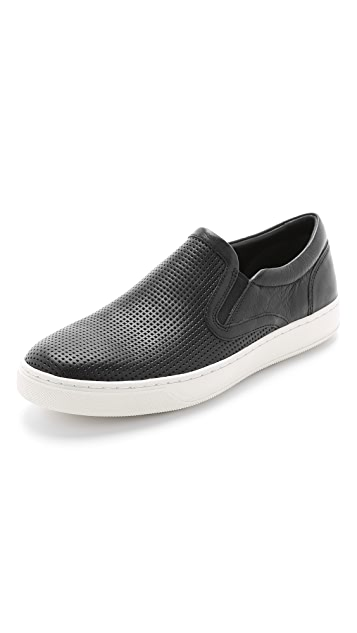 50e5933c3 Vince Ace Perforated Leather Slip On Sneakers