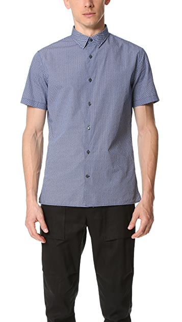 Vince Square Hem Short Sleeve Shirt