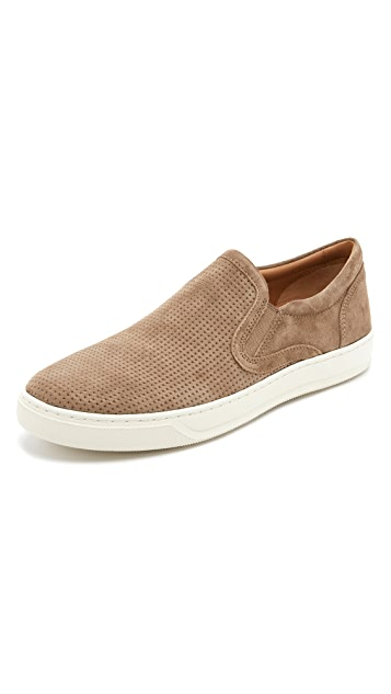 Vince Ace Perforated Suede Slip On Sneakers