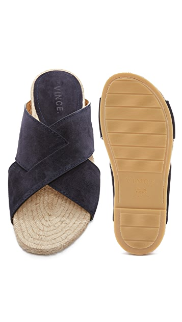 Vince Pete Cross Strap Slide Sandals
