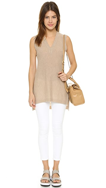 Vince Deep V Neck Top