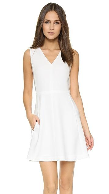 Vince V Neck Sleeveless Dress
