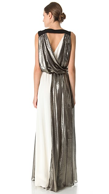 Vionnet Long Dress with V Neck