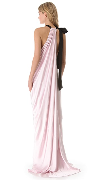 Vionnet Long Halter Dress
