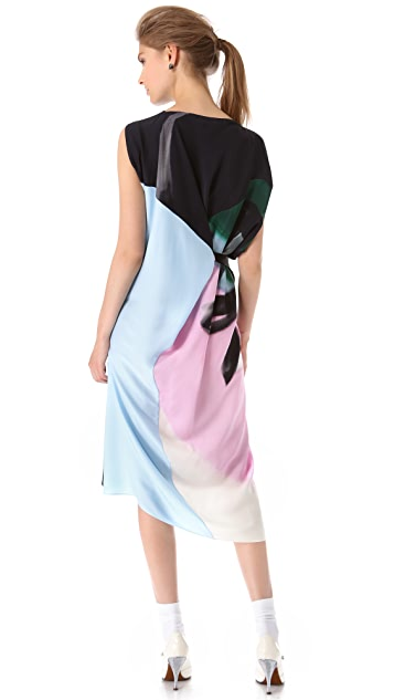 Vionnet Draped Dress with Grosgrain Ties
