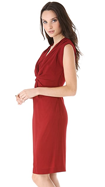 Vionnet Sleeveless Gathered Dress