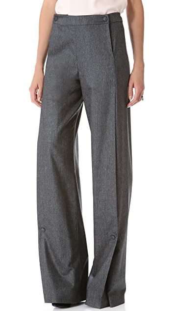Vionnet Wide Leg Snap Pants