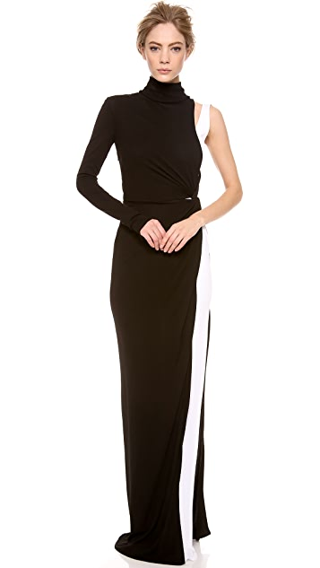 Vionnet Long Sleeve Gown