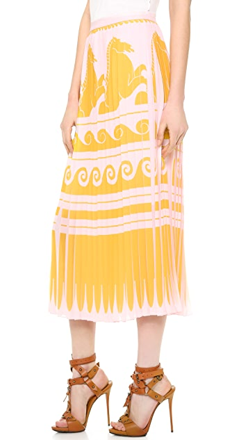Vionnet Pleated Skirt