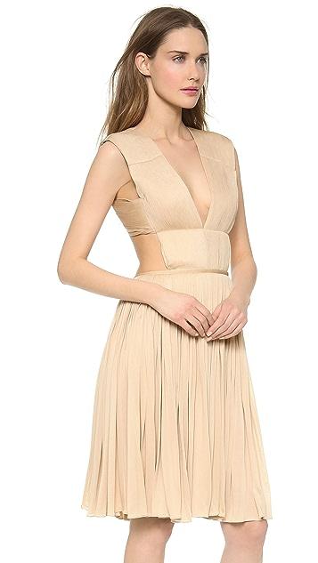 Vionnet Pleated Jersey Dress