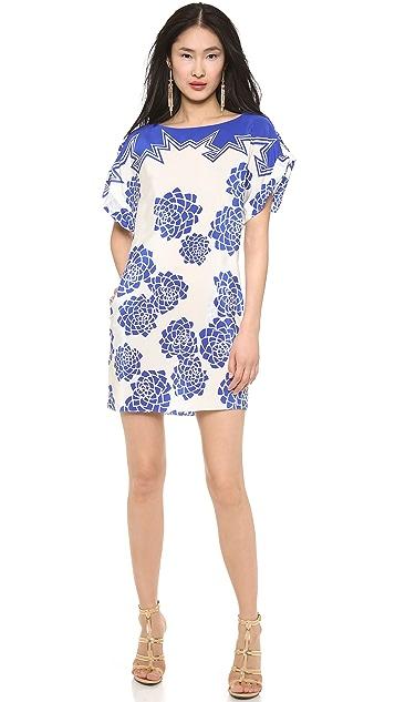 Vionnet Crepe De Chine Lotus Print Dress