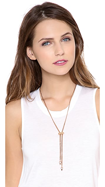 Vita Fede Thin Titan Crystal Necklace
