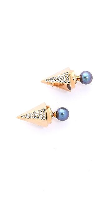 Vita Fede Titan Hexagon Crystal Earrings