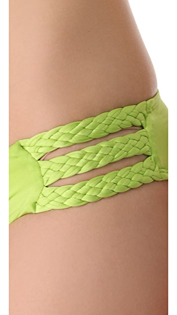 Vitamin A Chloe Triple Braid Bikini Bottoms
