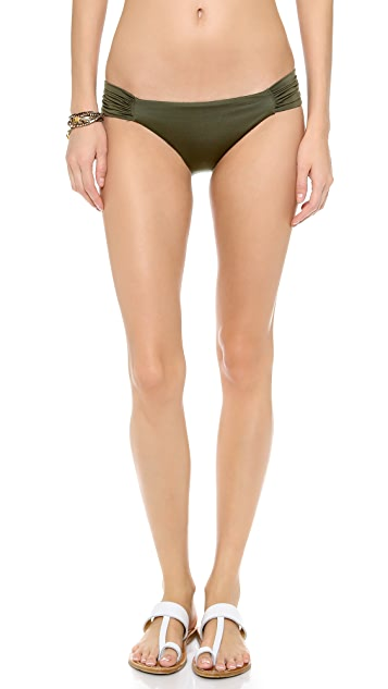 Vitamin A Antibes Ruched Hipster Bikini Bottoms