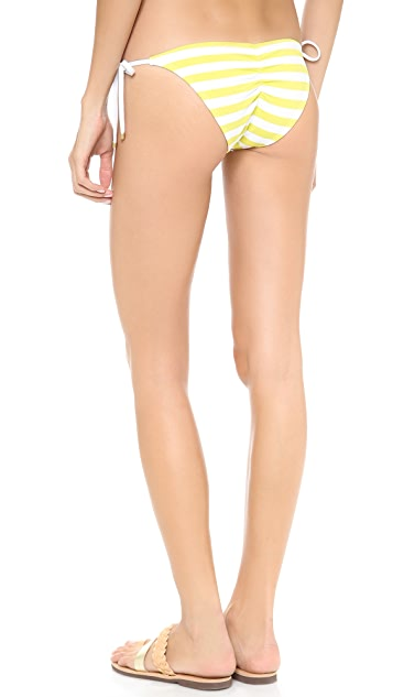 Vitamin A Natalie Mitre Stripe Tie Side Bikini Bottoms