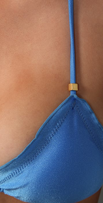 ViX Swimwear Solid Ripple Bikini Top
