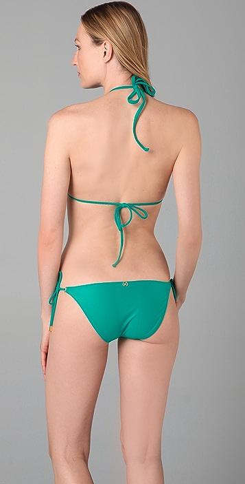 ViX Swimwear Tri Ruffle Bikini Top