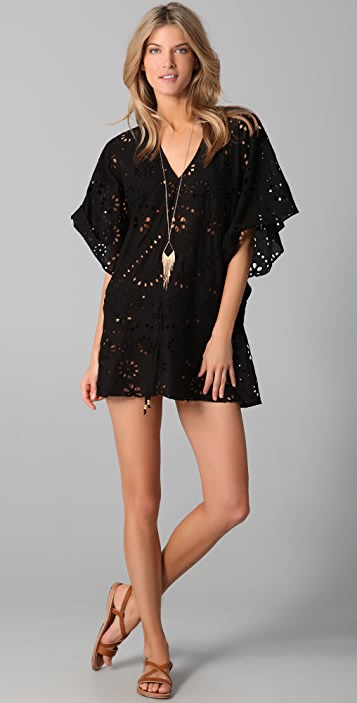 ViX Swimwear Solid Vintage Lace Cover Up