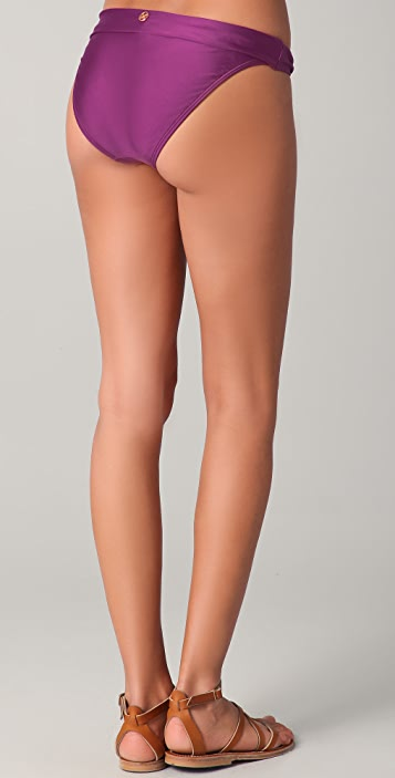ViX Swimwear Solid Bia Logo Tube Bikini Bottoms