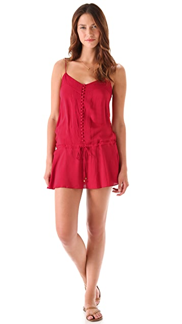ViX Swimwear Solid Joy Short Cover Up Dress