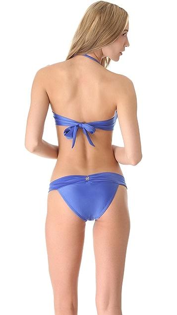 ViX Swimwear Solid Ruffle Bandeau Bikini Top