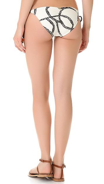 ViX Swimwear Barbados Ripple Tie Side Bikini Bottoms