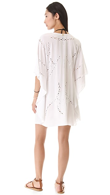 ViX Swimwear Solid Pipa Caftan Cover Up