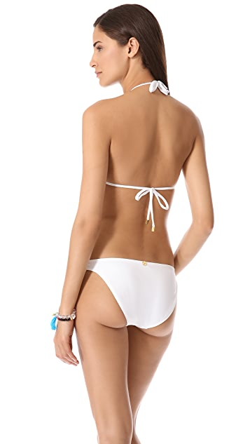 ViX Swimwear Solid White Triangle Bikini Top