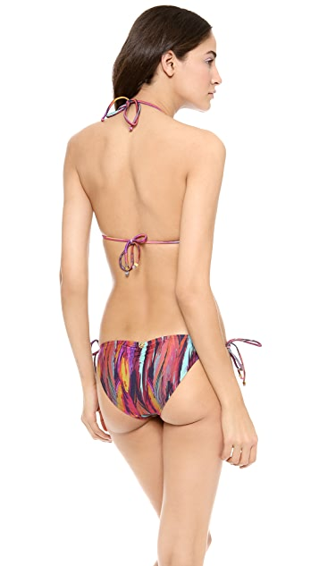 ViX Swimwear Napo Ripple Triangle Bikini Top