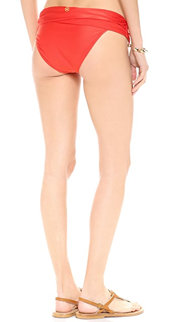 ViX Swimwear Solid Red Bikini Bottoms