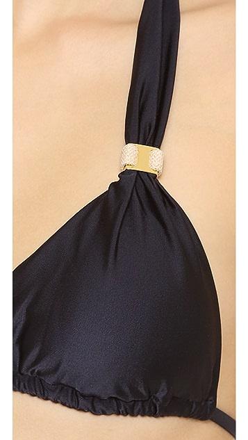 ViX Swimwear Solid Black Bikini Top