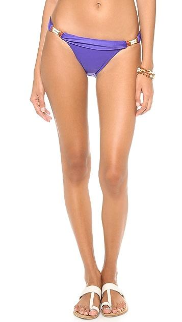 ViX Swimwear Solid Blue Bikini Bottoms