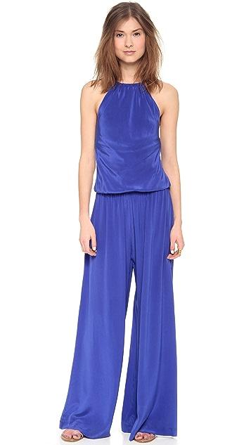 ViX Swimwear Solid Blue Ava Jumpsuit