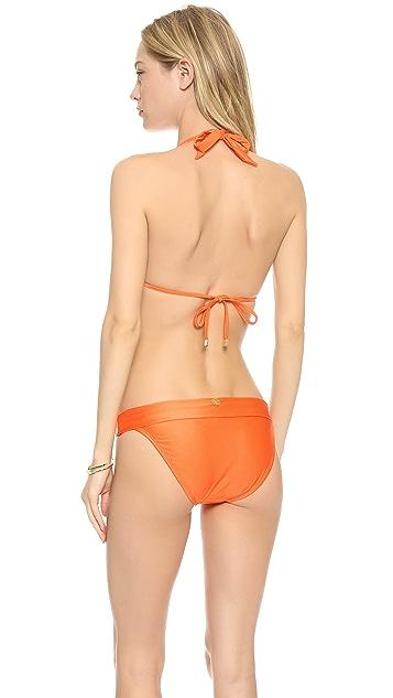 ViX Swimwear Solid Orange Bikini Top
